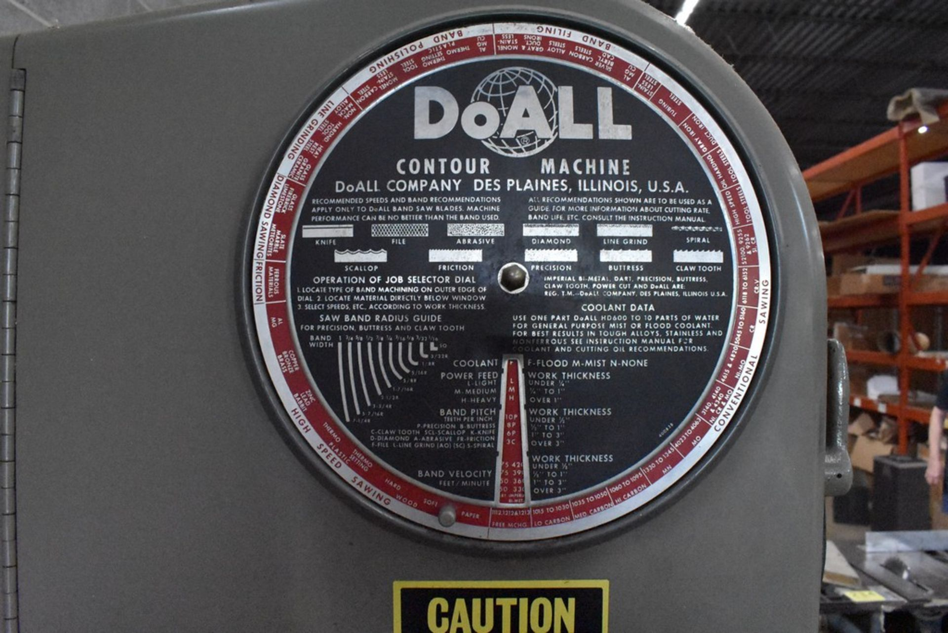 """DOALL 16"""" MODEL 1612-1 VERTICAL BAND SAW, S/N 148-681291, WITH BLADE WELDER - Image 3 of 9"""