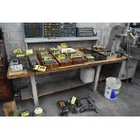 """84"""" X 36"""" X 33"""" WOOD TOP WORKBENCH WITH 3-1/2"""" SWIVEL BENCH VISE"""