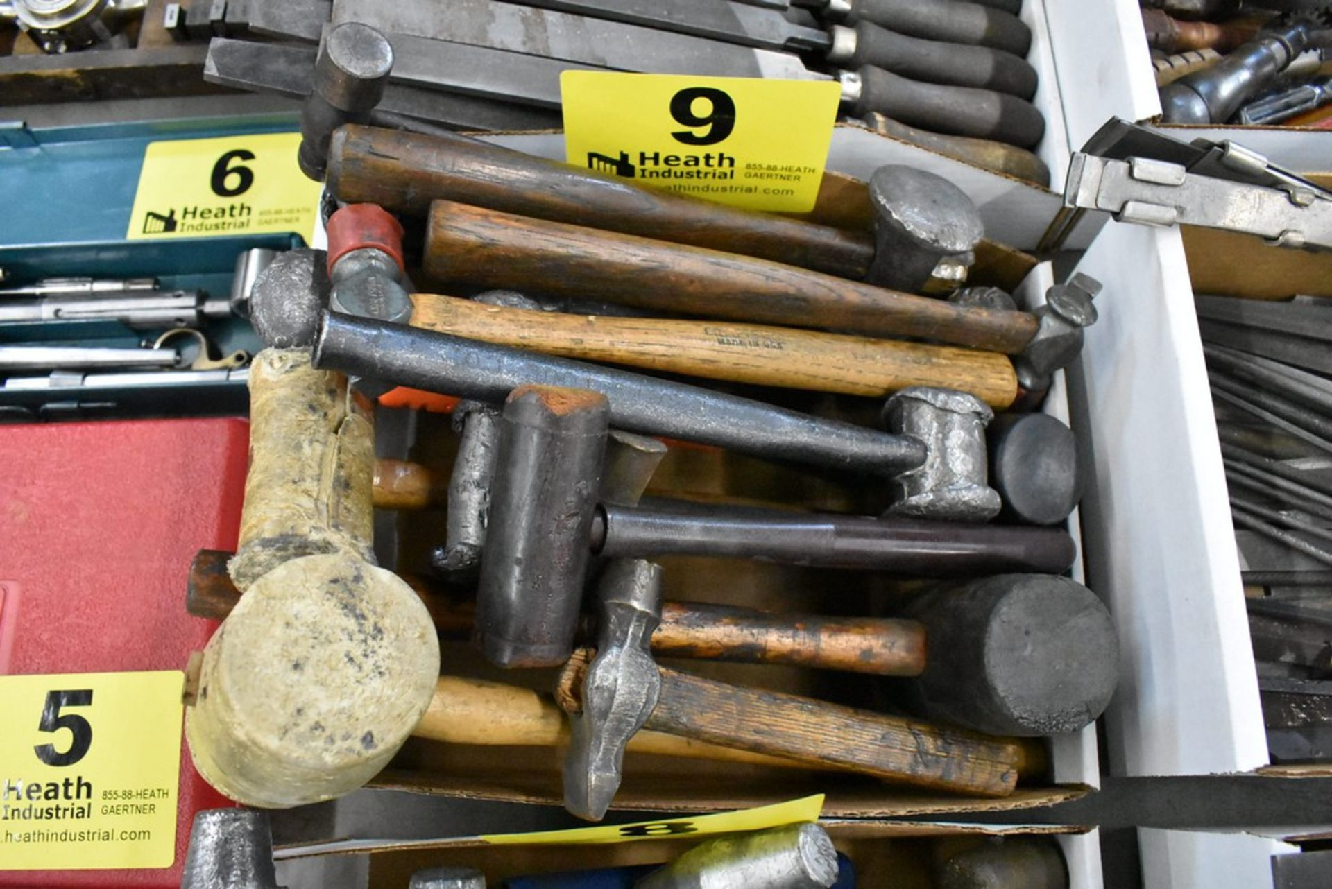 (15) ASSORTED HAMMERS & MALLETS