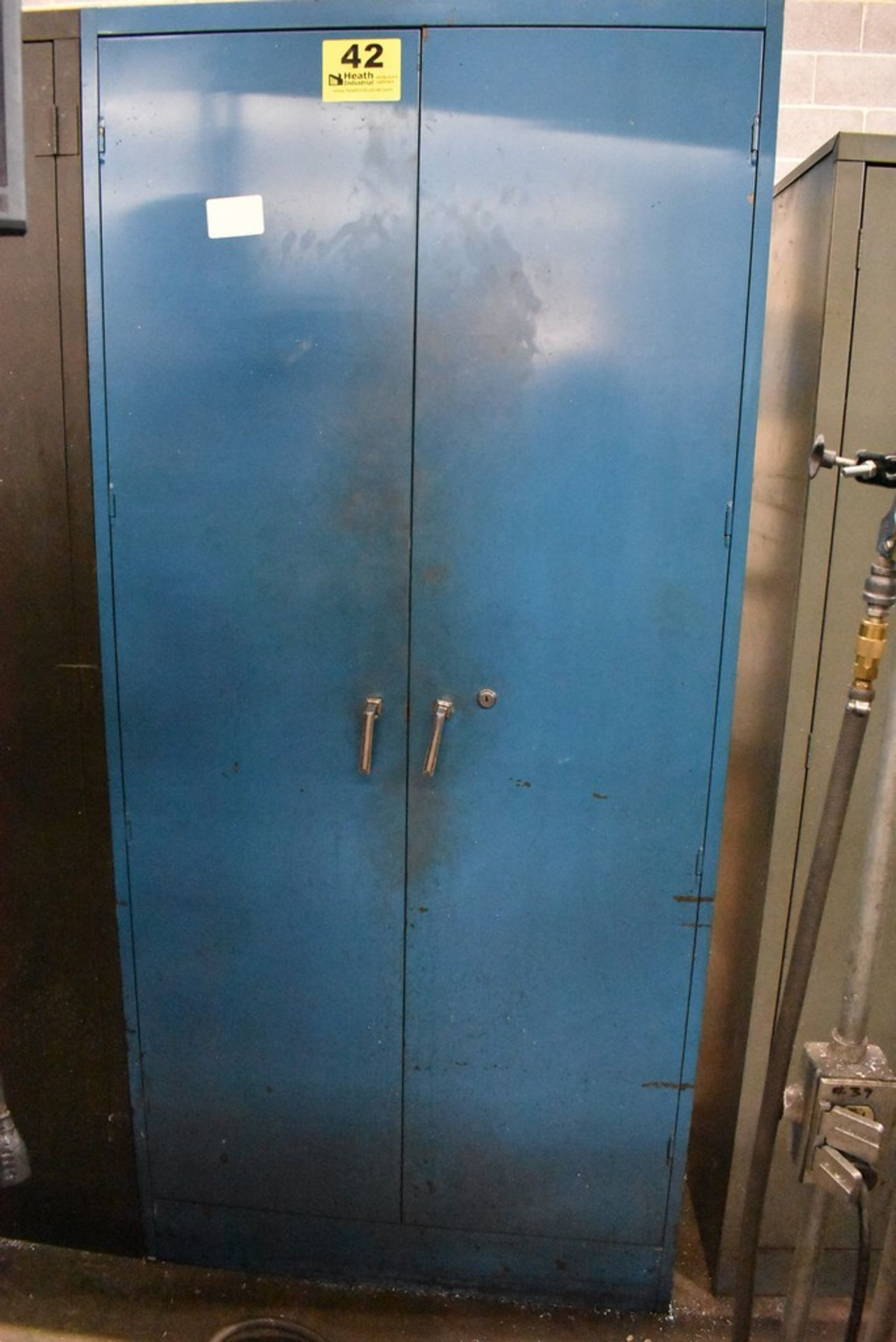 """36"""" X 18"""" X78"""" LOME TWO DOOR STEEL STORAGE CABINET WITH CONTENTS"""