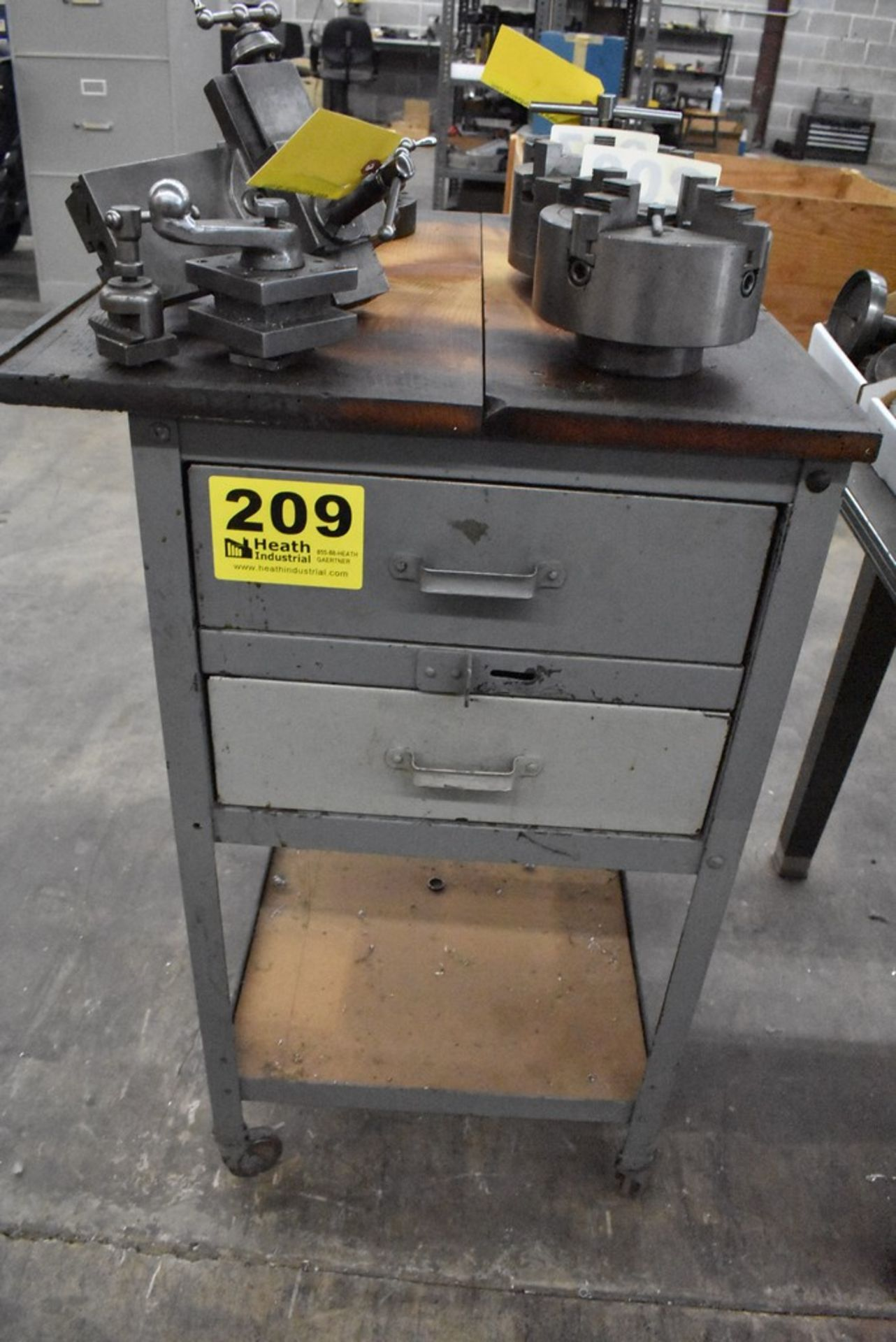 """18"""" X 24"""" X 36"""" PORTABLE SHOP CART WITH (2) DRAWERS"""