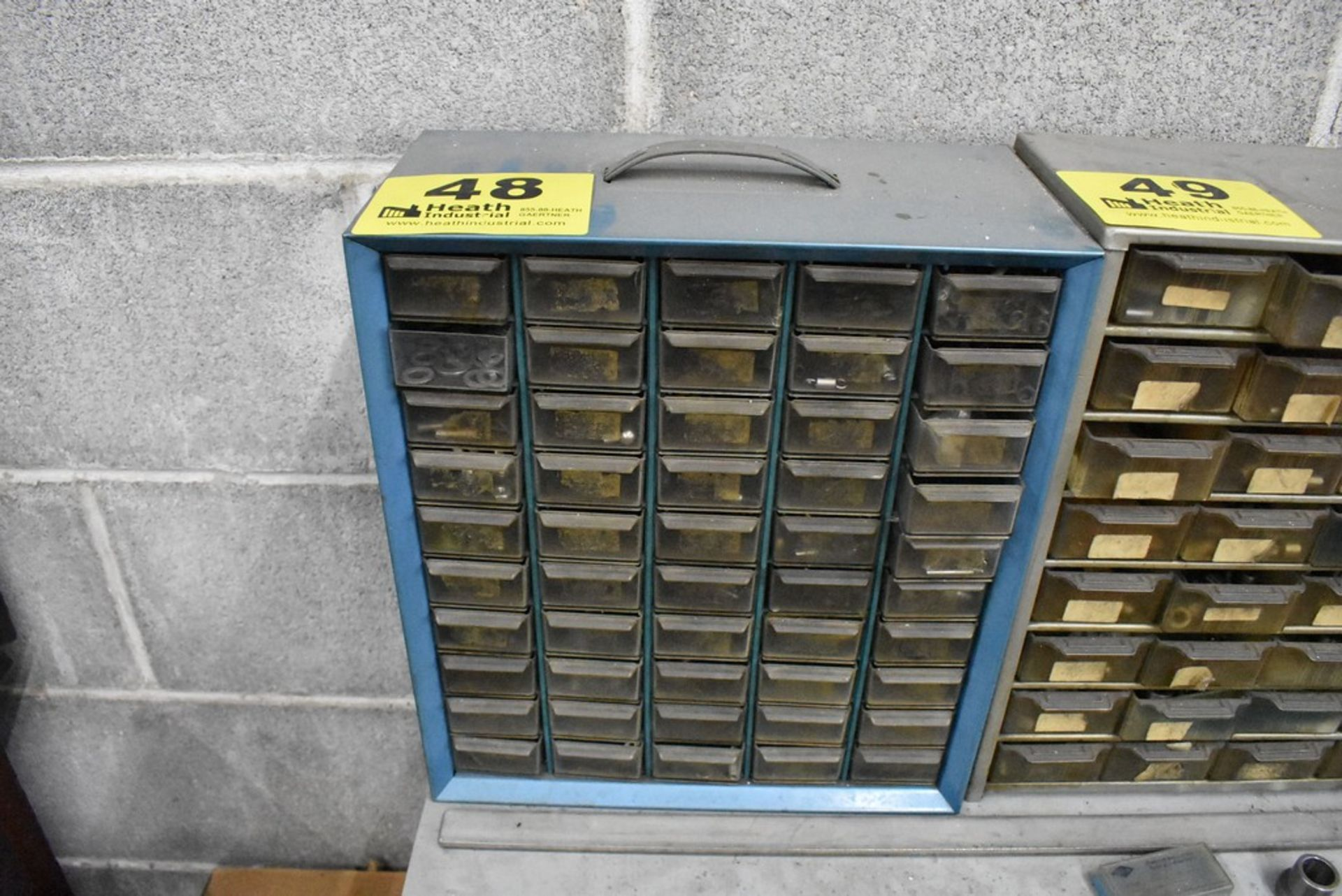 FIFTY DRAWER SMALL PARTS CABINET WITH CONTENTS - Image 2 of 2