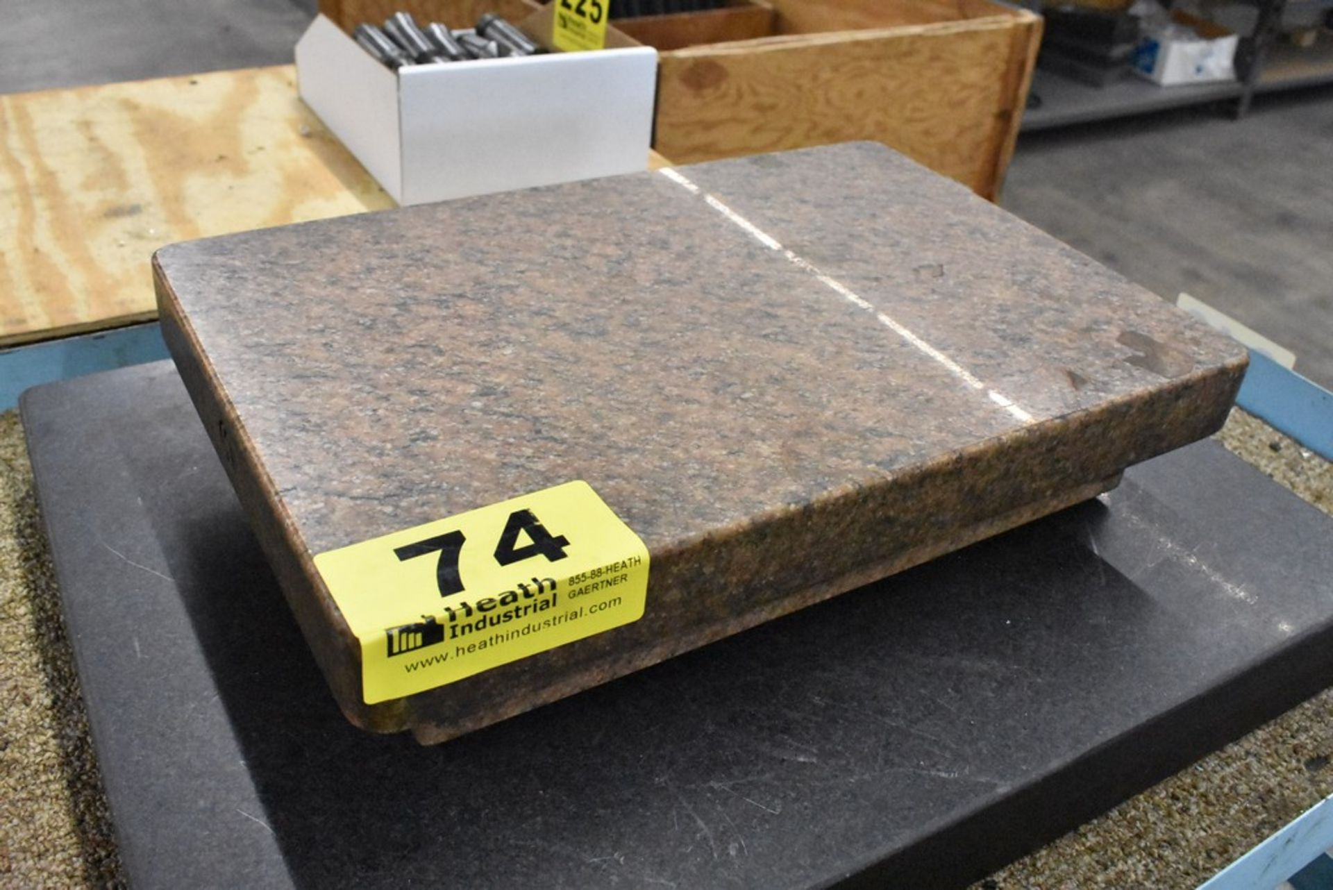 """12"""" X 18"""" FOUR LEDGE CRYSTAL PINK GRANITE SURFACE PLATE - Image 2 of 2"""