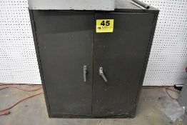"""31"""" X 17"""" X 37"""" COLE STEEL TWO DOOR CABINET WITH CONTENTS"""