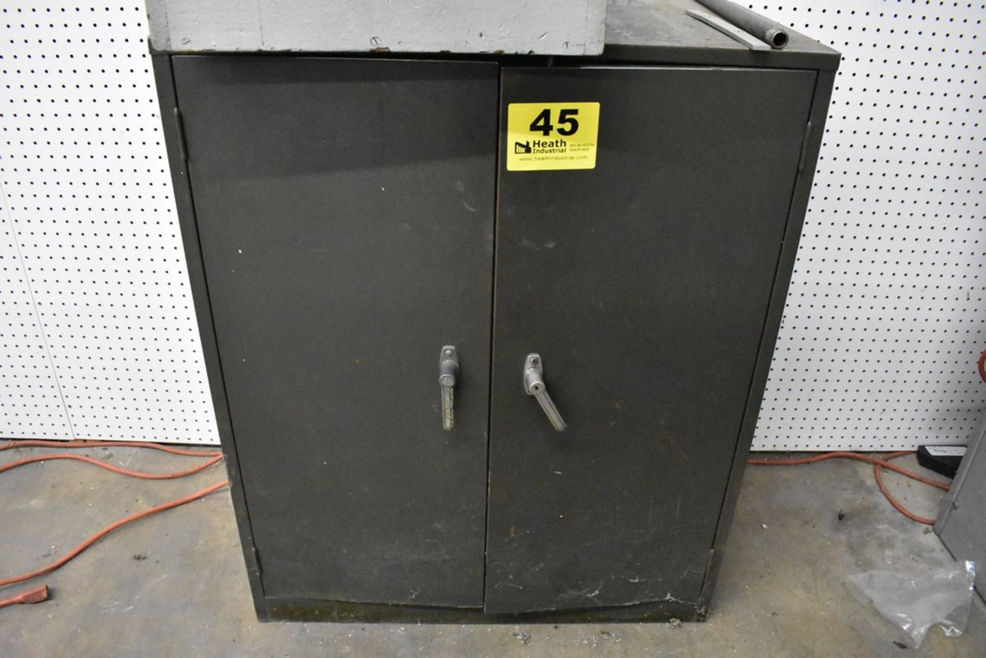 """31"""" X 17"""" X 37"""" COLE STEEL TWO DPPR CABINET WITH CONTENTS"""