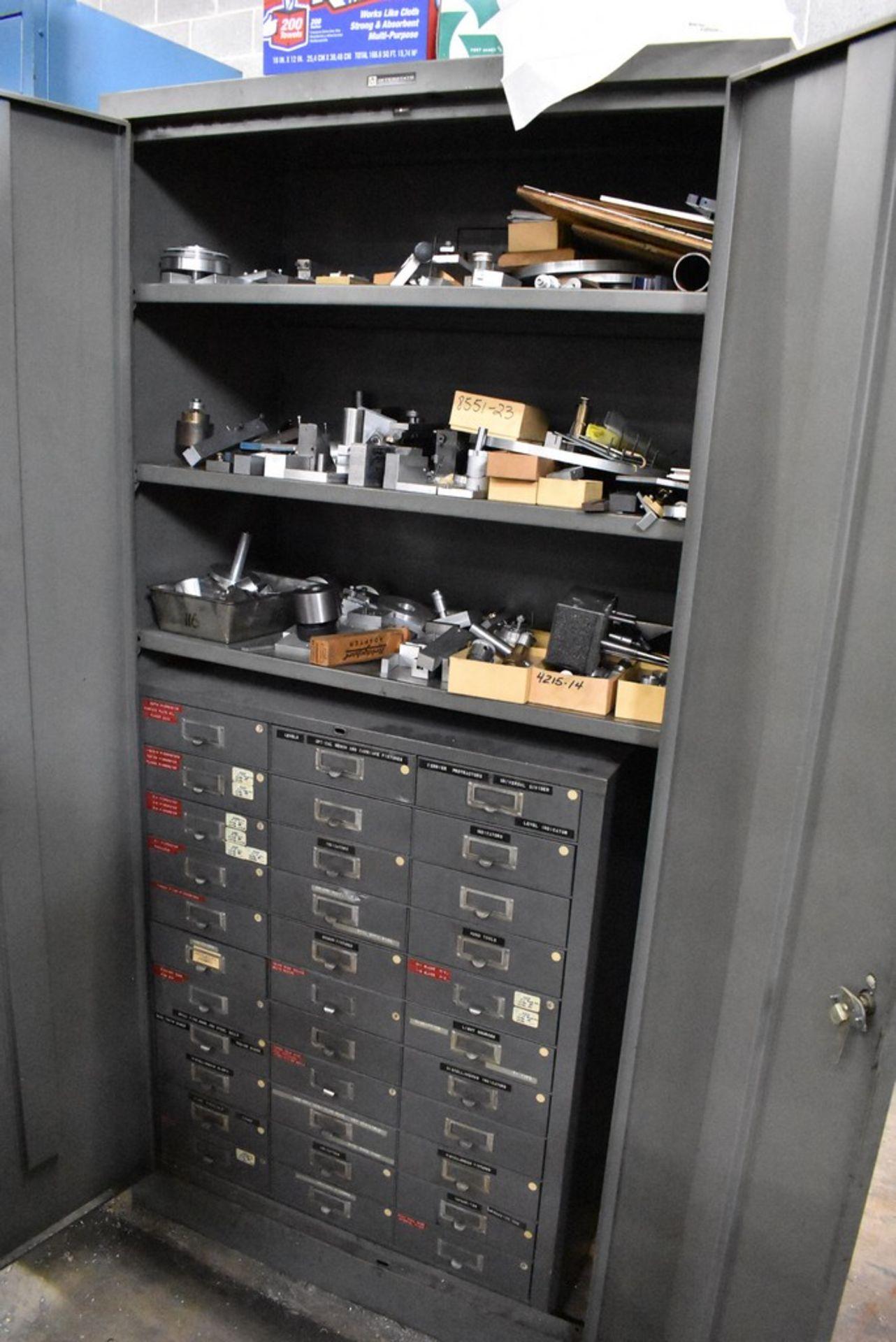 "36"" X 18"" X78"" TWO DOOR STEEL STORAGE CABINET WITH CONTENTS - Image 4 of 4"