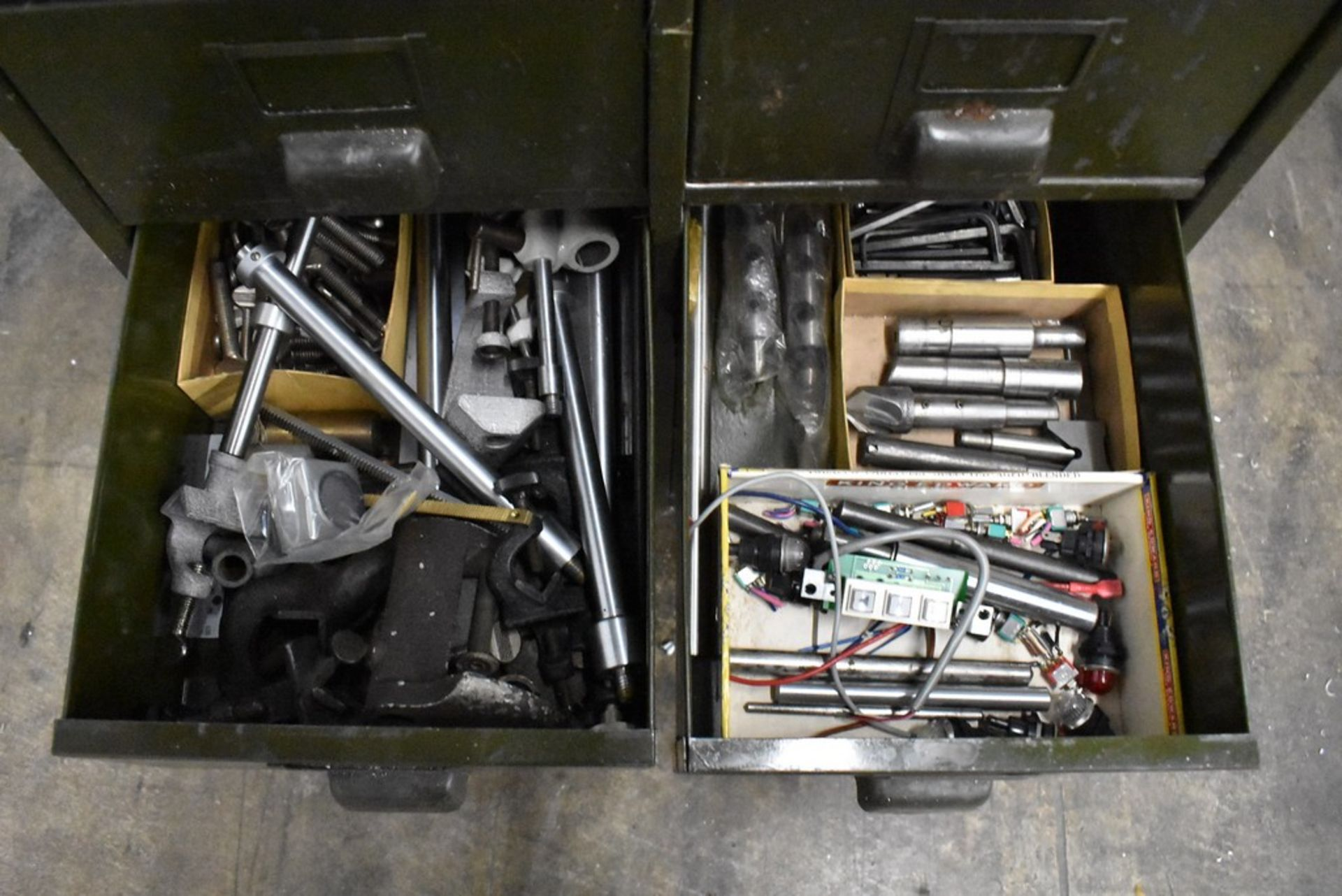 """FOURTEEN DRAWER STEEL CABINET WITH CONTENTS 21"""" X 13"""" X 39"""" - Image 3 of 4"""