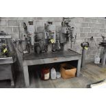 """JOHANNSEN 30"""" 3 SPINDLE DRILL, S/N 11800,11801, &11802, UP TO 1520 RPM SPINDLE, MOUNTED ON 20""""X68"""""""