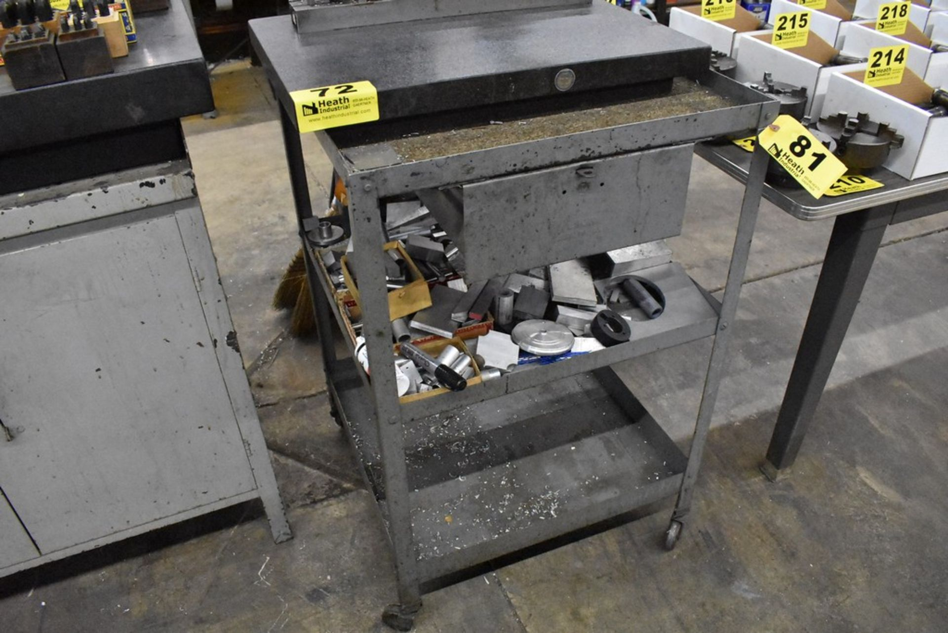 """LYON 24"""" X 24"""" X 37"""" PORTABLE SHP CART WITH DRAWER - Image 2 of 2"""
