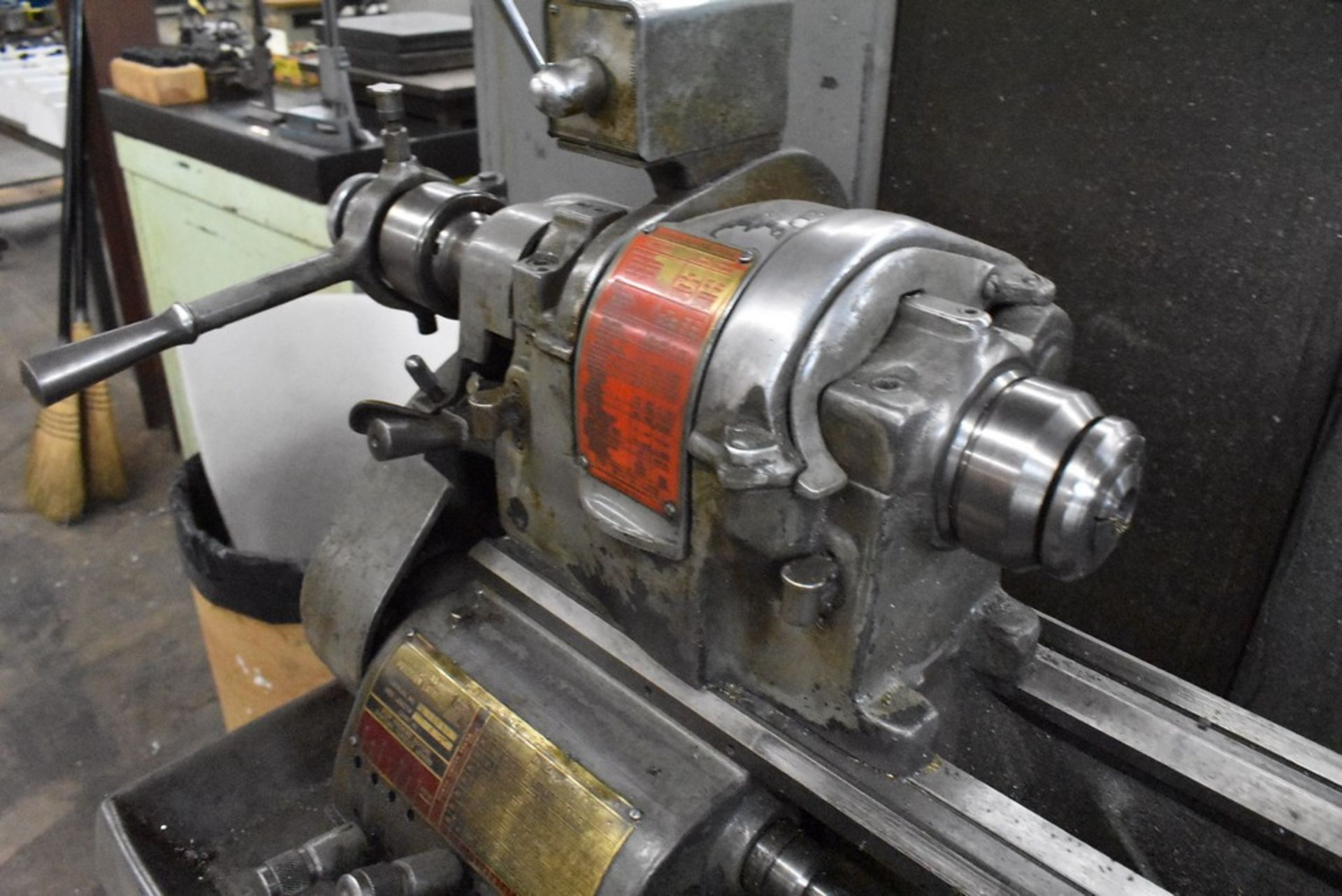 """SOUTH BEND 10""""X30"""" CABINET BASE TOOL ROOM LATHE, S/N 16711RKX12, WITH COLLET CLOSER, 4-WAY TOOL - Image 9 of 13"""