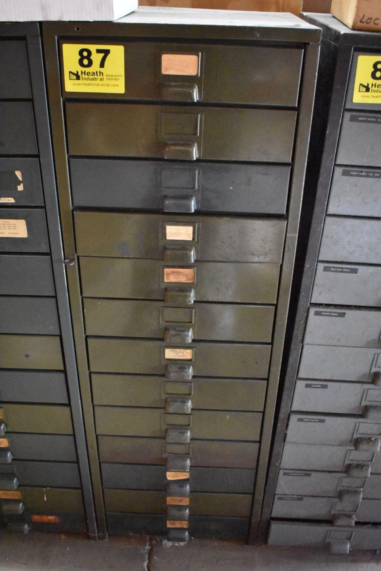 HOBART THIRTEEN DRAWER STEEL TOOL CABINET - Image 2 of 2
