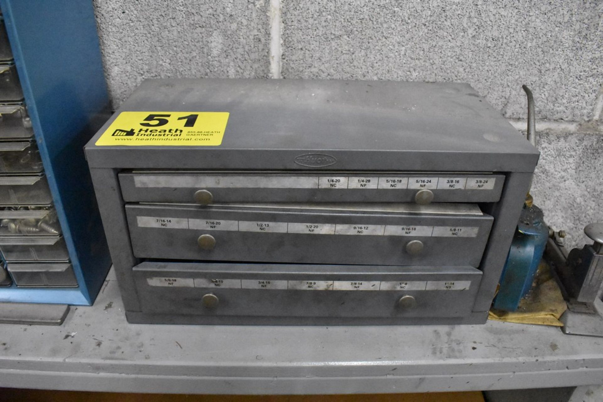 HUOT THREE DRAWER FRACTIONAL TAP CABINET WITH TAPS - Image 2 of 2