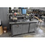 """SOUTH BEND 10""""X30"""" CABINET BASE TOOL ROOM LATHE, S/N 16711RKX12, WITH COLLET CLOSER, 4-WAY TOOL"""