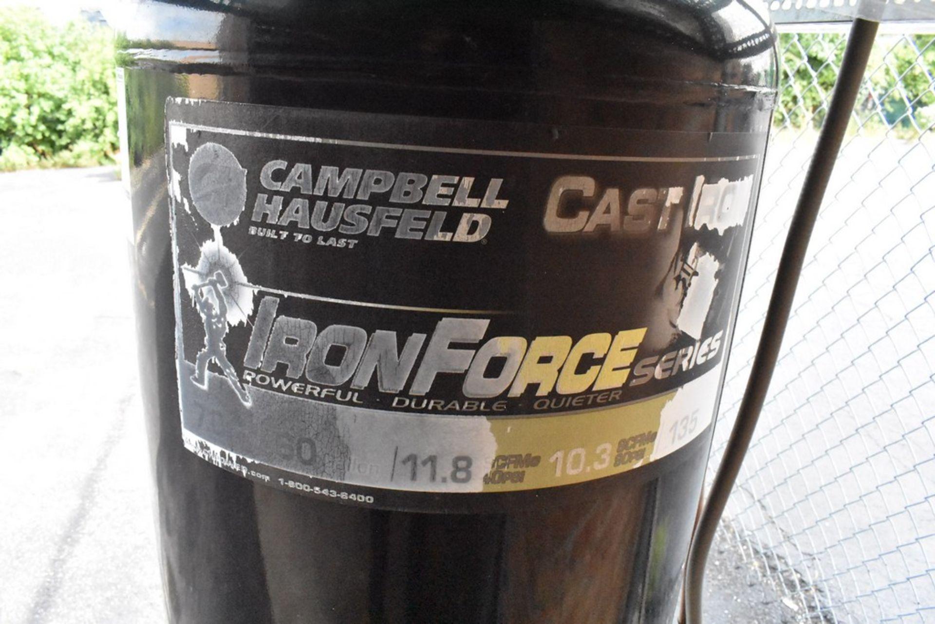 CAMPBELL HAUSFELD 7 HP VERTICAL TANK MOUNTED AIR COMPRESSOR, 60 GALLON TANK - Image 2 of 9