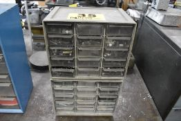 (2) FIFTEEN DRAWER SMALL PARTS CABINETS WITH CONTENTS