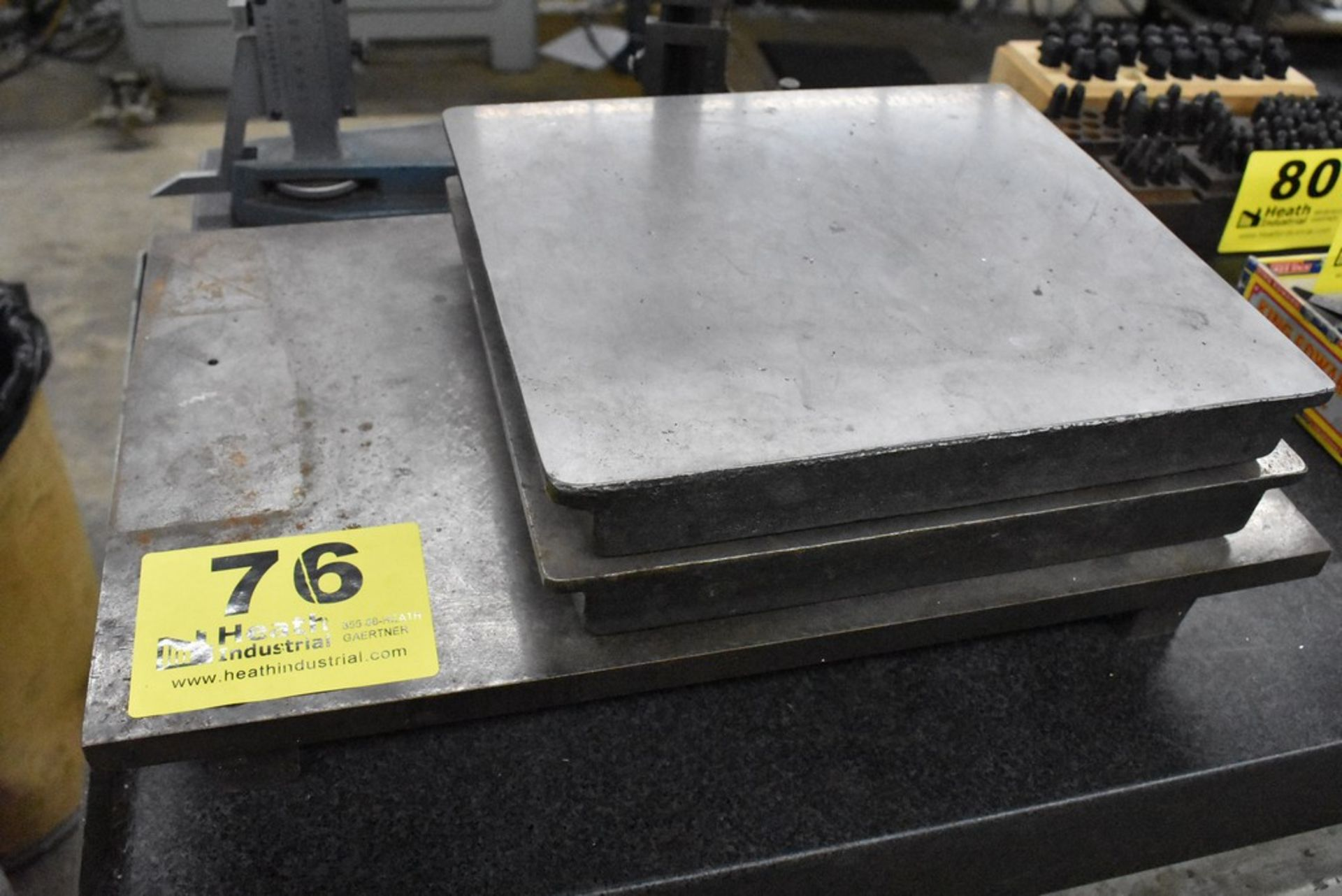 (3) ASSORTED CAST IRON SURFACE PLATES