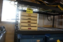"""LARGE QTY OF INFORMATION LEARNING MAGAZINES & BOOKS WITH FIVE DRWER STORAGE CABINET, 11"""" X 13"""" X"""