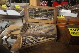 SET OF DRILL BITS WITH WOOD CASE