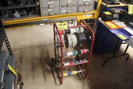 PORTABLE WIRE CART WITH LARGE QTY OF ELECTRICAL WIRING