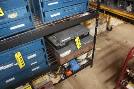 FOUR PARTS & HARDWARE DRAWERS, AIR FITTINGS, CARRIAGE BOLTS, NUTS, SPRINGS, ETC.