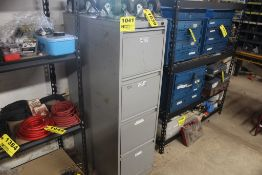 """FOUR DRWER STEEL FILE CABINET, 15"""" X 28"""" X 49"""""""