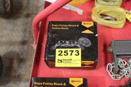 ROPE PULLEY BLOCKS & TACKLE HOIST