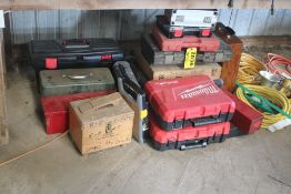 LARGE QTY OF EMPTY TOOL BOXES