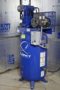 QUINCY VERTICAL TANK MOUNTED AIR COMPRESSOR