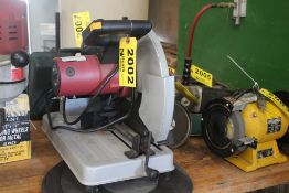 """CHICAGO 14"""" CUT-OFF SAW WITH (3) EXTRA BLADES"""