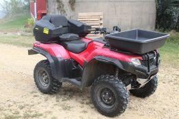2016 HONDA RANCHER 450 TRX 420 FA FOUR WHEEL DRIVE FULLY AUTOMATIC ATV