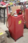PORTABLE FUEL STORAGE DISPENSING TANK WITH HAND PUMP