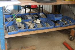 LARGE QTY OF BINS WITH PARTS WITH PARTS & HARDWARE