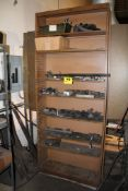 """ADJUSTABLE STEEL SHELVING UNIT WITH CONTENTS, 36"""" X 12"""" X 90"""""""