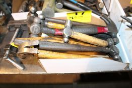 (8) BALL PEEN & CLAW HAMMERS IN BOX