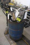 55 GALLON STEEL DRUM WITH SCRAP METAL