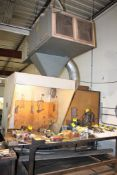 """48""""X120""""X1/2"""" STEEL WELDING TABLE WITH HOOD AND SMOKEATER EXHAUST SYSTEM"""