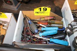 ASSORTED SCREWDRIVERS & CUTTERS IN BOX