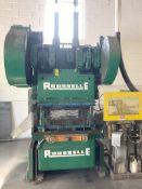 """ROUSSELLE 80 TON MODEL 8B-48 BACK GEARED GAP FRAME PRESS, S/N GBSA-8106, 7"""" STROKE, 12"""" SHUT HEIGHT,"""