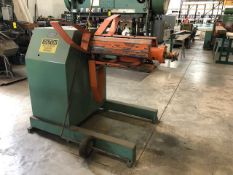 JAY BIRD 6,000 LB. MODEL 602460 STOCK UNCOILER, S/N 3819 WITH SAFETRONICS SOLID STATE CONTROL,