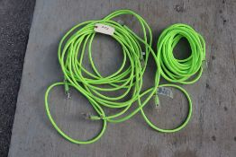 Green extension cords.