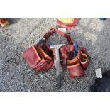 Tool belt w/tools.