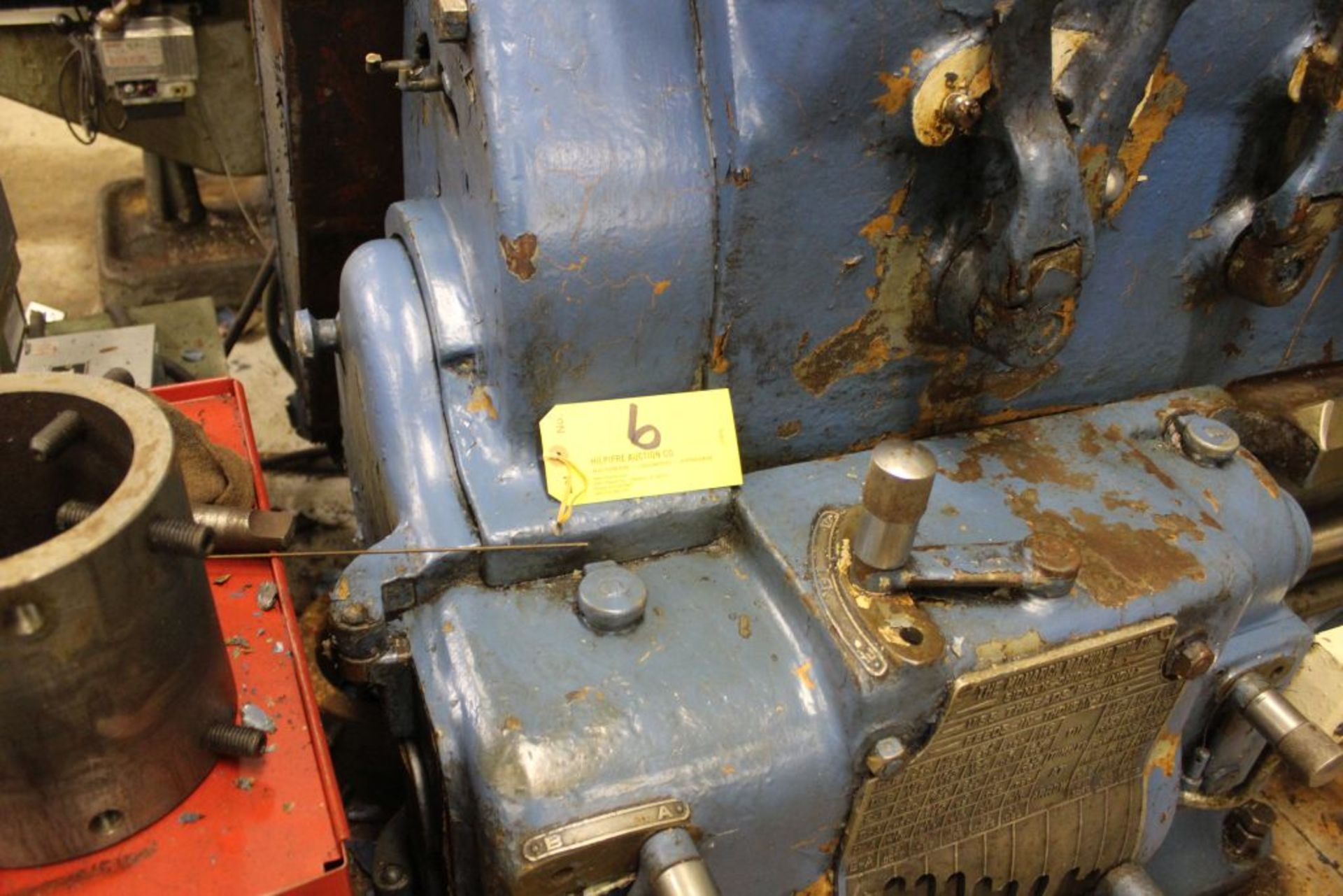 """1952 Monarch lathe, sn 35209, 20"""", 2 1/4"""" hole, 96"""" bed, 27.5 swing, 72"""" center to center, tooling - Image 3 of 12"""