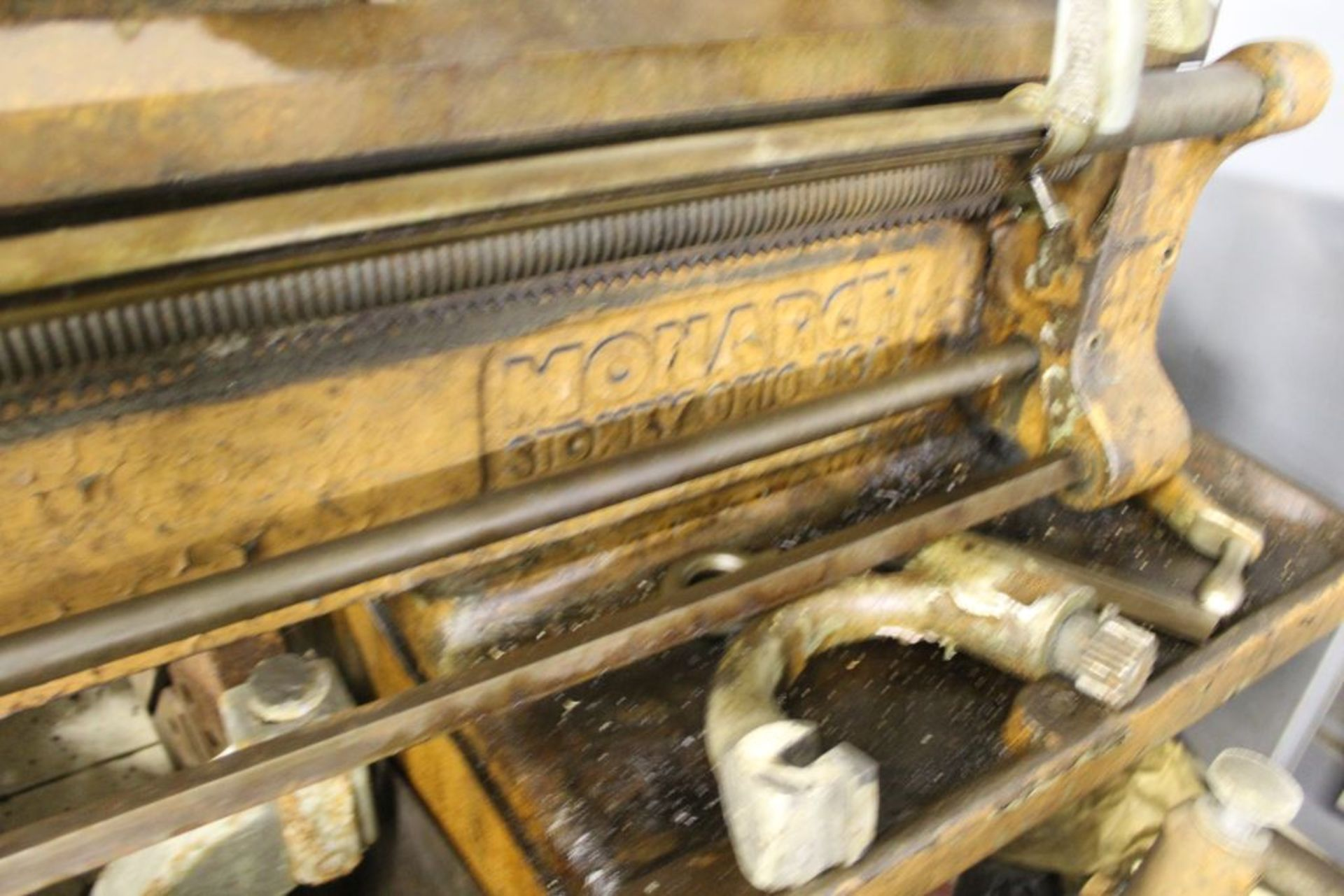 """1954 Monarch lathe, sn 38256, 16"""", 1 3/4"""" hole, 80"""" bed, 18"""" swing, 54"""" center to center, tool - Image 3 of 3"""