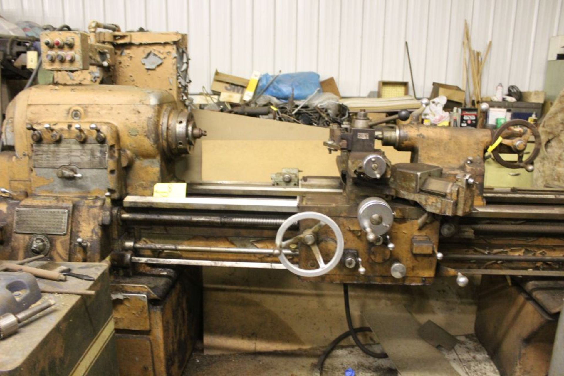 """1960 Monarch engine lathe, model 61, sn 44310-AT, 13 x 54, 20 1/2"""" swing, 79"""" bed, 55"""" center to"""