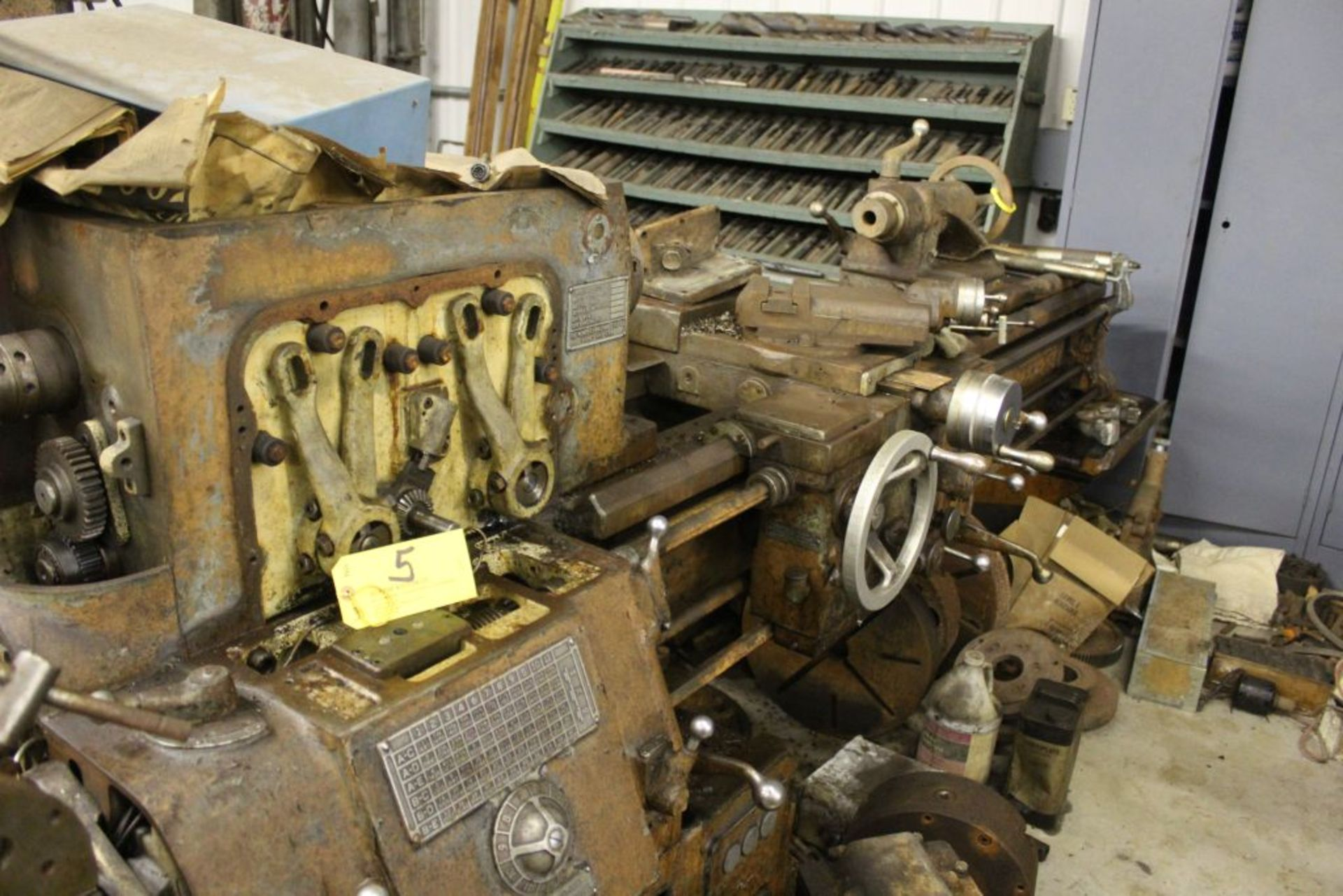 """1954 Monarch lathe, sn 38256, 16"""", 1 3/4"""" hole, 80"""" bed, 18"""" swing, 54"""" center to center, tool"""