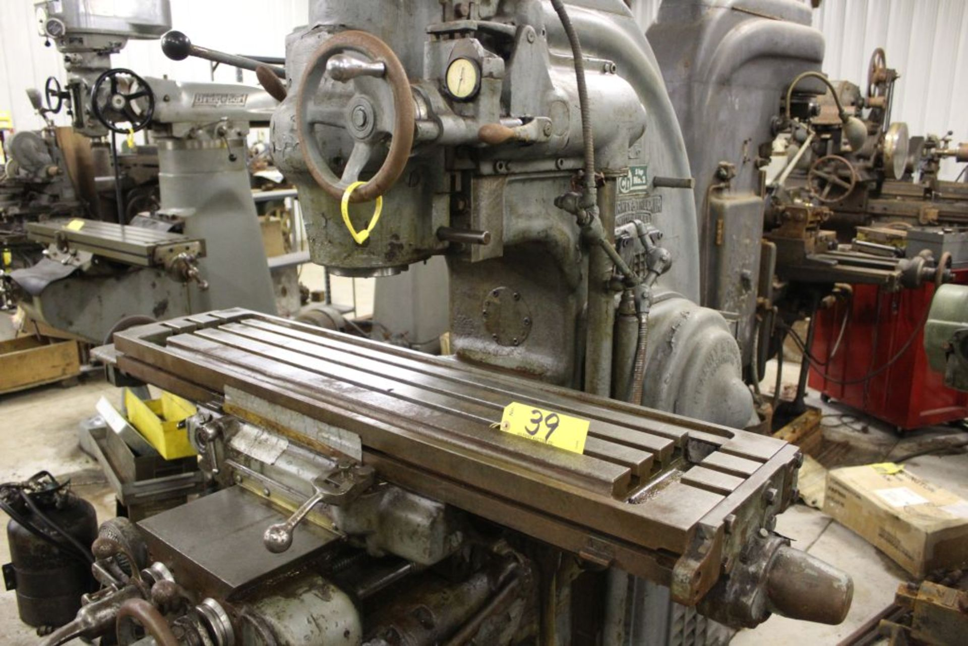 """Milwaukee K/T mill, model CH No. 2, sn 2-8910, 5 hp., 51"""" x 12"""" bed. - Image 3 of 4"""