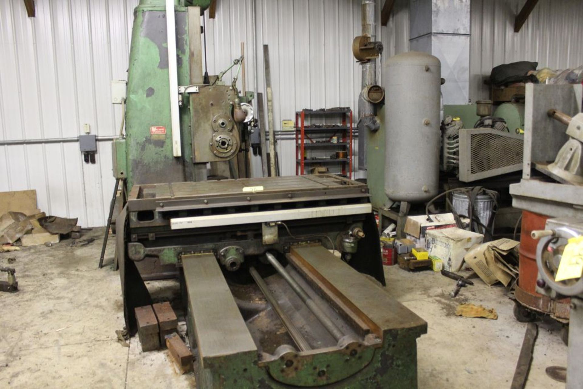 """Giddings & Lewis boring mill, No 30, 30"""" x 62"""" bed, 55"""" height adjustment, 13"""", EG&G digital read - Image 2 of 13"""