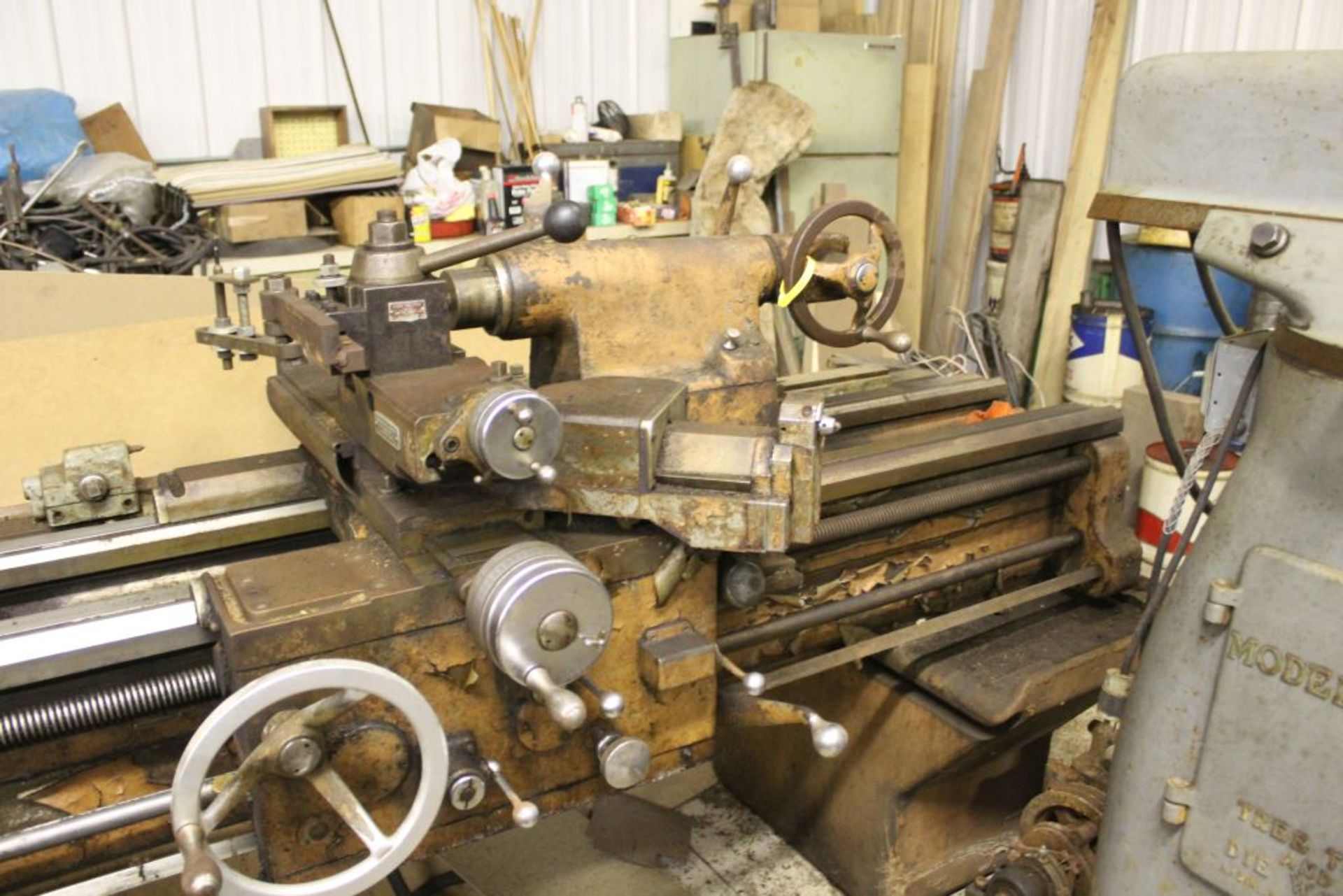 """1960 Monarch engine lathe, model 61, sn 44310-AT, 13 x 54, 20 1/2"""" swing, 79"""" bed, 55"""" center to - Image 7 of 8"""