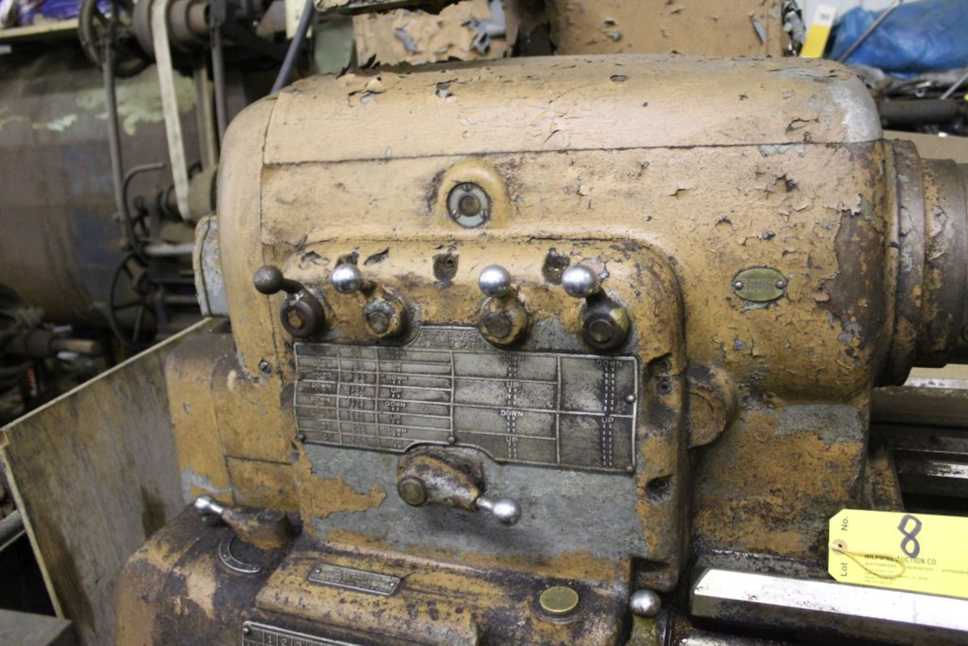 """1960 Monarch engine lathe, model 61, sn 44310-AT, 13 x 54, 20 1/2"""" swing, 79"""" bed, 55"""" center to - Image 5 of 8"""