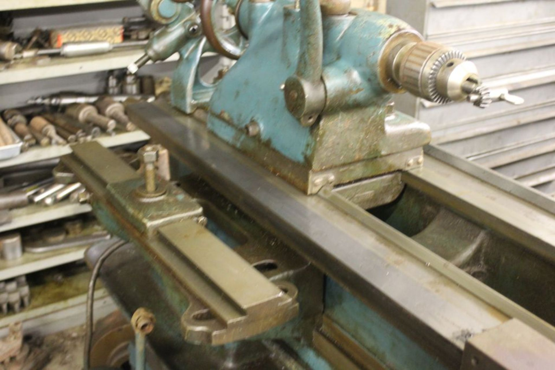 """Springfield lathe, sn 52071, 14"""", 1 3/4"""" hole, 16"""" swing, 48"""" center to center, taper attachment, - Image 10 of 14"""